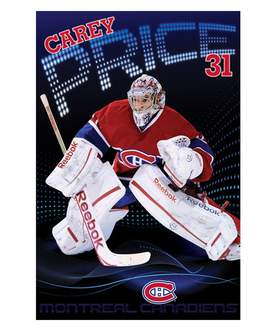 CAREY PRICE MONTREAL CANADIENS POSTER