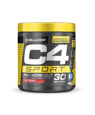 CELLUCOR C4 SPORT PRE-WOROUT SUPPLEMENT - FRUIT PUNCH