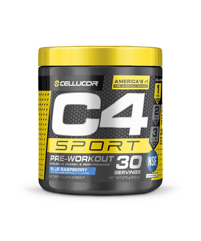 CELLUCOR C4 SPORT PRE-WOROUT SUPPLEMENT - BLUE RASPBERRY