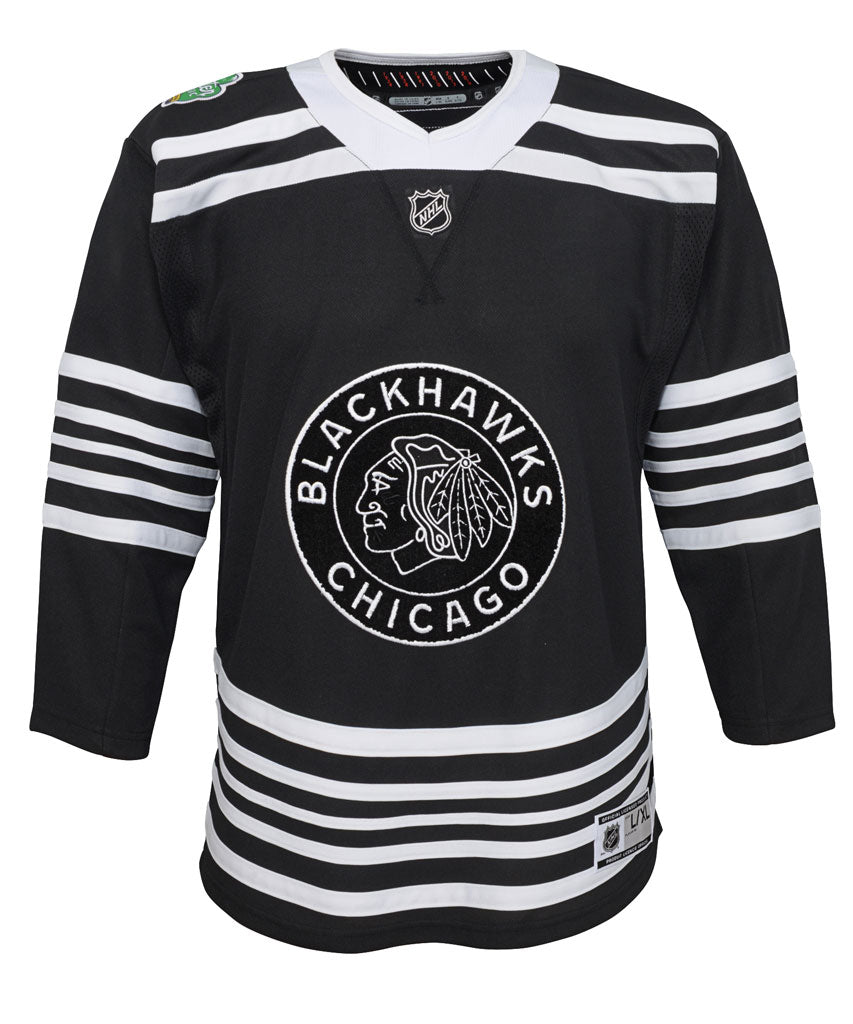 check out 79142 3645a CHICAGO BLACKHAWKS JUNIOR PREMIER 2019 WINTER CLASSIC JERSEY