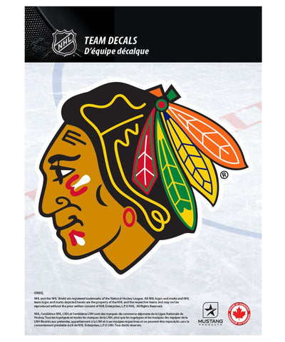 "CHICAGO BLACKHAWKS 5"" X 7"" NHL TEAM DECAL"
