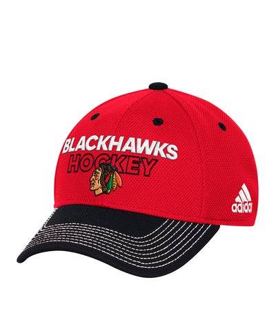 CHICAGO BLACKHAWKS ADIDAS SR LOCKER ROOM STRUCTURED FLEX HAT