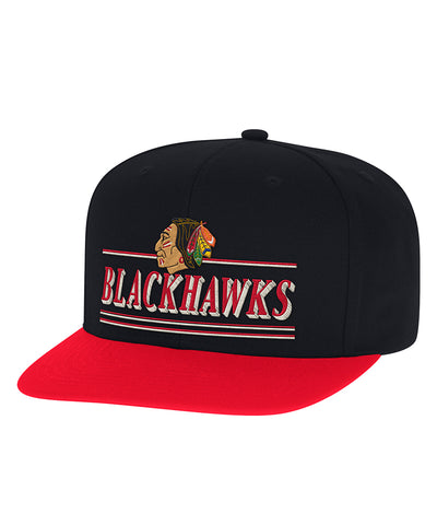 CHICAGO BLACKHAWKS CCM FLAT BRIM SNAPBACK HAT