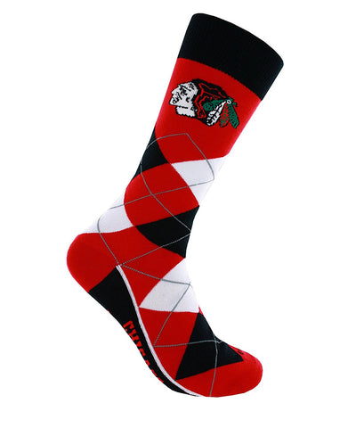 CHICAGO BLACKHAWKS ARGYLE SOCKS