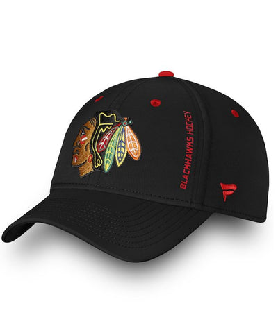 caa55811f7be1 CHICAGO BLACKHAWKS FANATICS MEN S RINKSIDE SPEED FLEX HAT ...