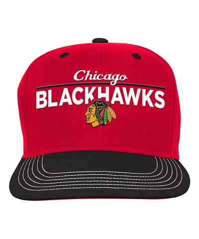 CHICAGO BLACKHAWKS RETRO FLATBRIM JR SNAPBACK HAT