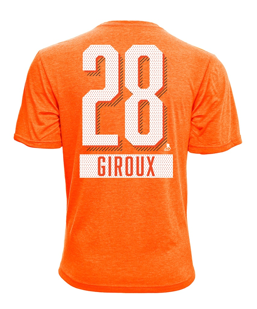 new product 11b07 5e601 CLAUDE GIROUX PHILADELPHIA FLYERS LEVELWEAR MEN'S NAME & NUMBER T SHIRT