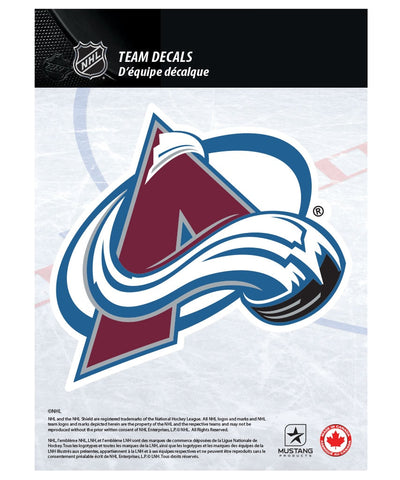 "COLORADO AVALANCHE 5"" X 7"" NHL TEAM DECAL"