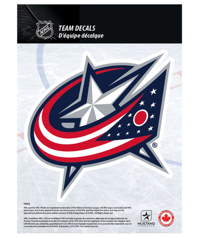 "COLUMBUS BLUE JACKETS 5"" X 7"" NHL TEAM DECAL"