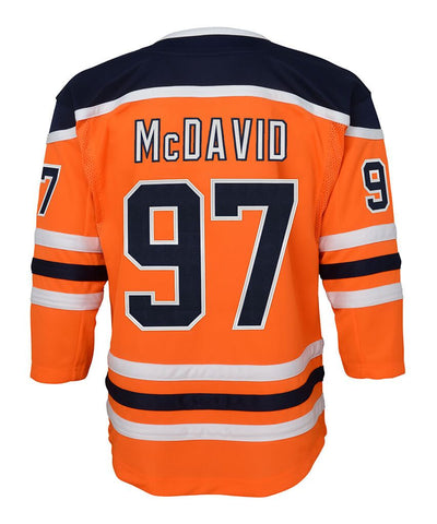 CONNOR MCDAVID EDMONTON OILERS YOUTH PREMIER JERSEY