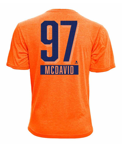 CONNOR MCDAVID EDMONTON OILERS ADIDAS SR ICING NAME & NUMBER TEE
