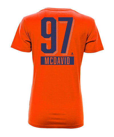 CONNOR MCDAVID EDMONTON OILERS LEVELWEAR WOMEN'S ICING NAME & NUMBER T SHIRT