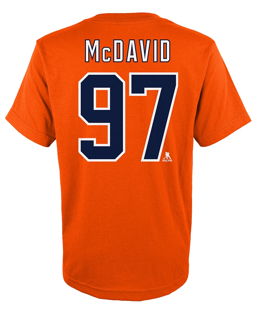 check out b584a 290a9 CONNOR MCDAVID EDMONTON OILERS KIDS PLAYER T SHIRT