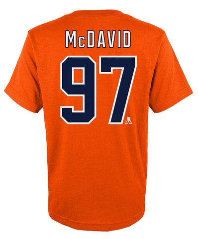 CONNOR MCDAVID EDMONTON OILERS KIDS PLAYER T SHIRT