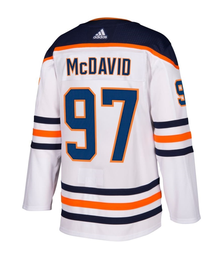 quality design 9aba9 66e37 ADIDAS AUTHENTIC PRO EDMONTON OILERS CONNOR MCDAVID AWAY JERSEY