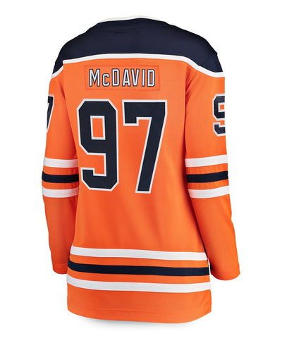 FANATICS BREAKAWAY CONNOR MCDAVID EDMONTON OILERS WOMEN'S HOME JERSEY