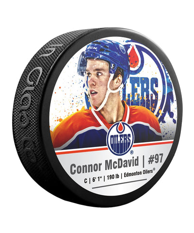 CONNOR MCDAVID EDMONTON OILERS NHL HOCKEY PUCK