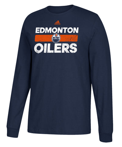 EDMONTON OILERS ADIDAS MEN'S HEAVILY USED LONGSLEEVE SHIRT
