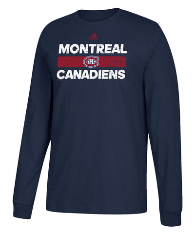 MONTREAL CANADIENS ADIDAS MEN'S HEAVILY USED LONGSLEEVE SHIRT