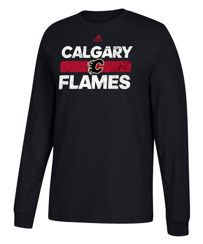 CALGARY FLAMES ADIDAS MEN'S HEAVILY USED LONGSLEEVE SHIRT