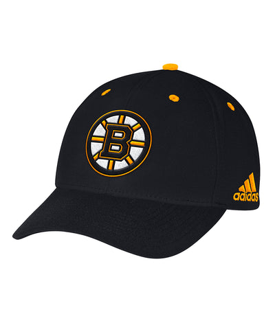 BOSTON BRUINS ADIDAS MEN'S STRUCTURED ADJUSTABLE HAT