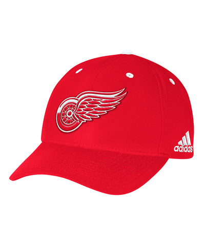 DETROIT RED WINGS ADIDAS MEN'S STRUCTURED ADJUSTABLE HAT