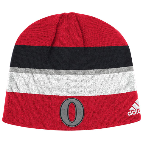 ADIDAS OTTAWA SENATORS NHL100 CLASSIC PLAYER KNIT HAT