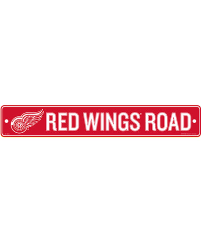 "DETROIT RED WINGS 4""X23"" STANDARD STREET SIGN"