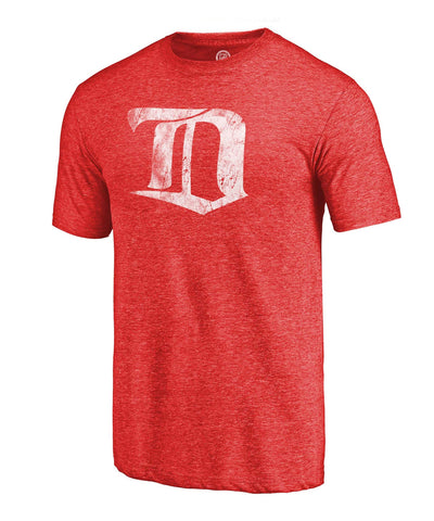 DETROIT RED WINGS FANATICS MEN'S THROWBACK LOGO T SHIRT