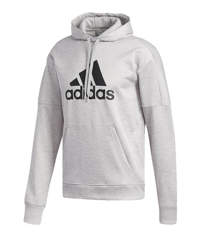 ADIDAS MEN'S TEAM ISSUE FLEECE HOODIE - GREY
