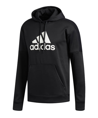 ADIDAS MEN'S TEAM ISSUE FLEECE HOODIE - BLACK