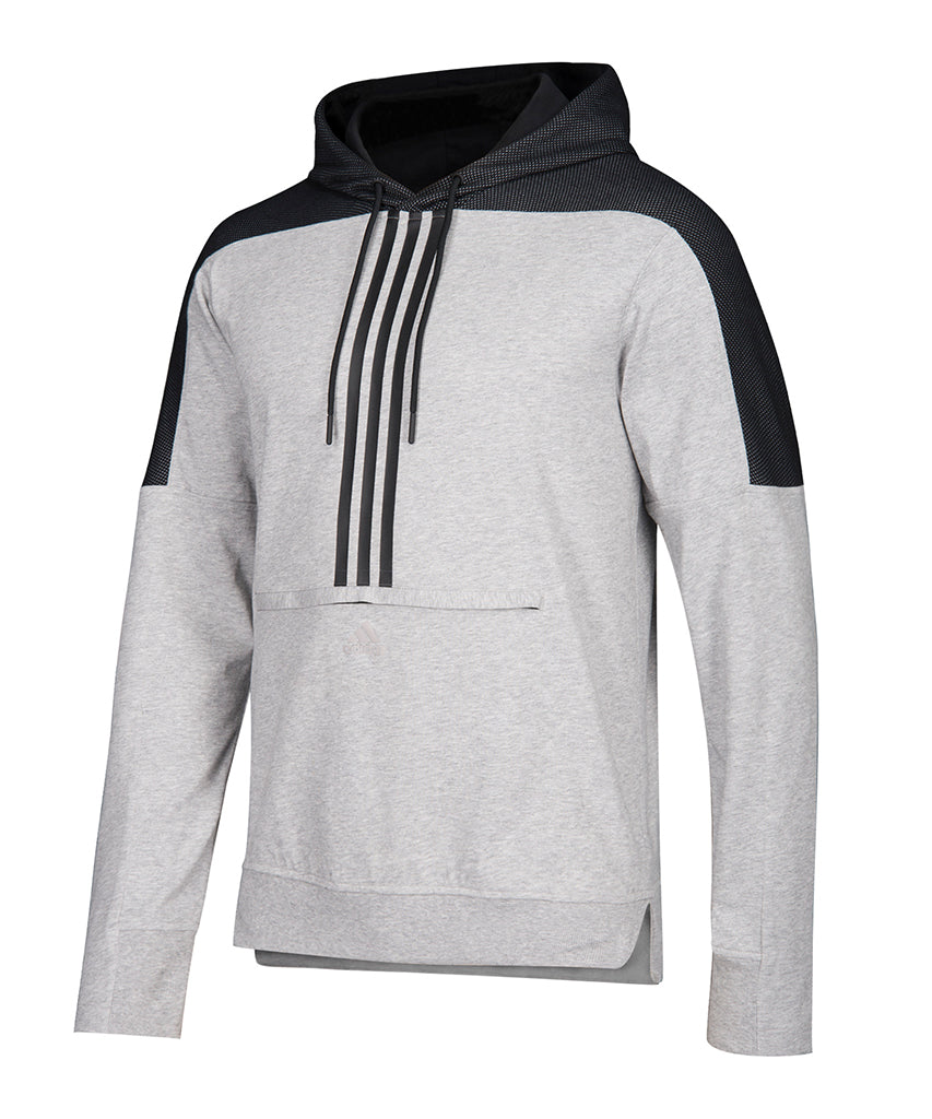 new style ad629 21c7a CALGARY FLAMES ADIDAS MEN'S HEATER PO HOODIE