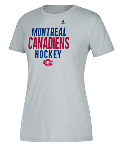 MONTREAL CANADIENS ADIDAS WOMEN'S LINED MIDDLE TEAM T SHIRT