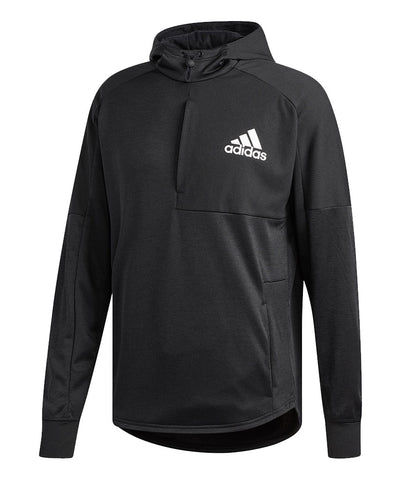 ADIDAS MEN'S TEAM ISSUE PO HOODIE -  BLACK