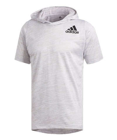 ADIDAS MEN'S FREELIGHT SS HOOD T SHIRT - GREY