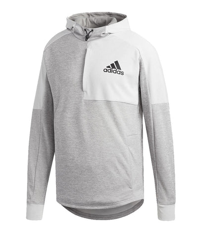 ADIDAS MEN'S TEAM ISSUE PO HOODIE -  GREY
