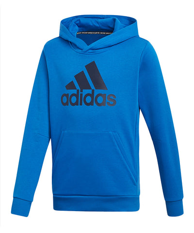 ADIDAS KID'S MUST HAVE BADGE OF SPORTS HOODIE - BLUE