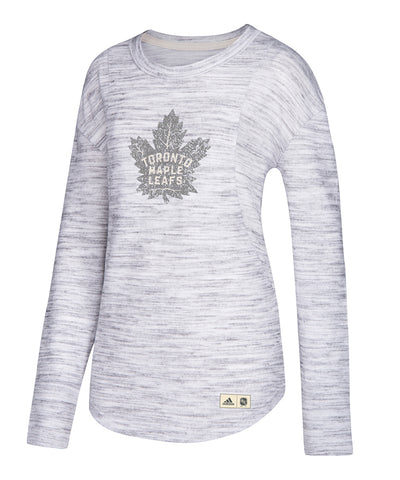 TORONTO MAPLE LEAFS ADIDAS WOMEN'S FINISHED CREW SHIRT