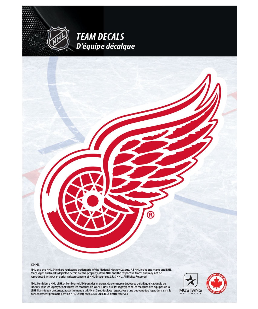 DETROIT RED WINGS 5 X 7 NHL TEAM DECAL