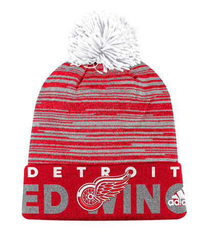 DETROIT RED WINGS ADIDAS CUFFED POM KNIT BEANIE