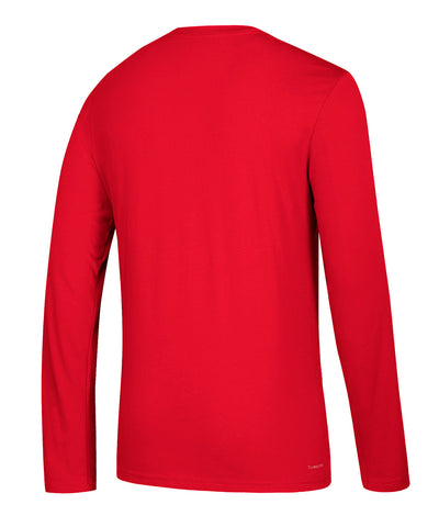 DETROIT RED WINGS ADIDAS MEN'S FACE WASH LONG SLEEVE SHIRT