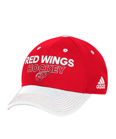 DETROIT RED WINGS ADIDAS SR LOCKER ROOM STRUCTURED FLEX HAT