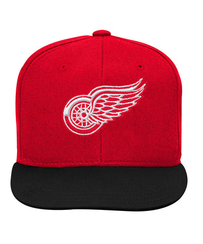 DETROIT RED WINGS KID'S 2-TONE FLATBRIM SNAPBACK HAT