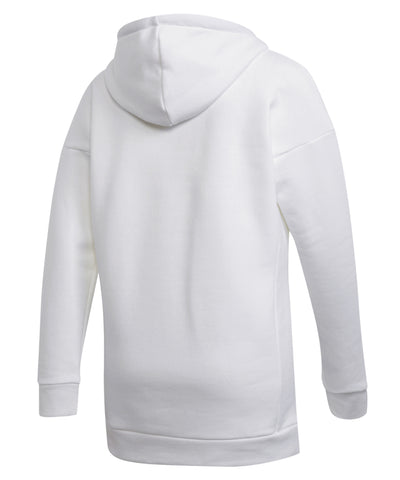 ADIDAS WOMEN'S BADGE OF SPORT HOODIE - WHITE