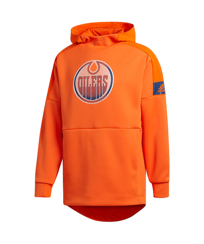 EDMONTON OILERS ADIDAS MEN'S GAME MODE PO HOODIE - ORANGE