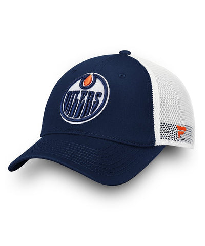 EDMONTON OILERS FANATICS MEN'S UNSTRUCTURED ADJUSTABLE MESH HAT