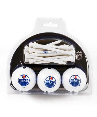 EDMONTON OILERS GOLF BALL AND TEE PACK