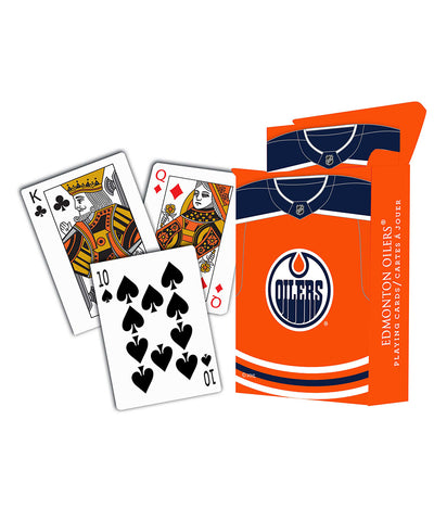 EDMONTON OILERS PLAYING CARDS - 10 PACK