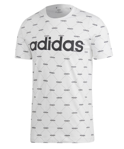 ADIDAS MEN'S CORE FAV T SHIRT - WHITE/BLACK