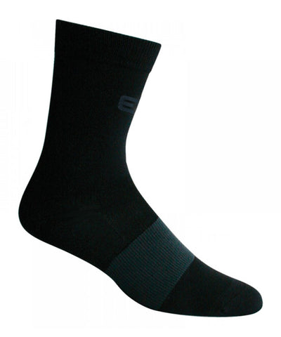 ELITE SR PRO-SLIM BLACK SOCKS